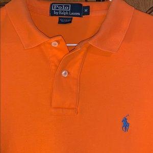 EUC Polo by Ralph Lauren medium, orange shirt